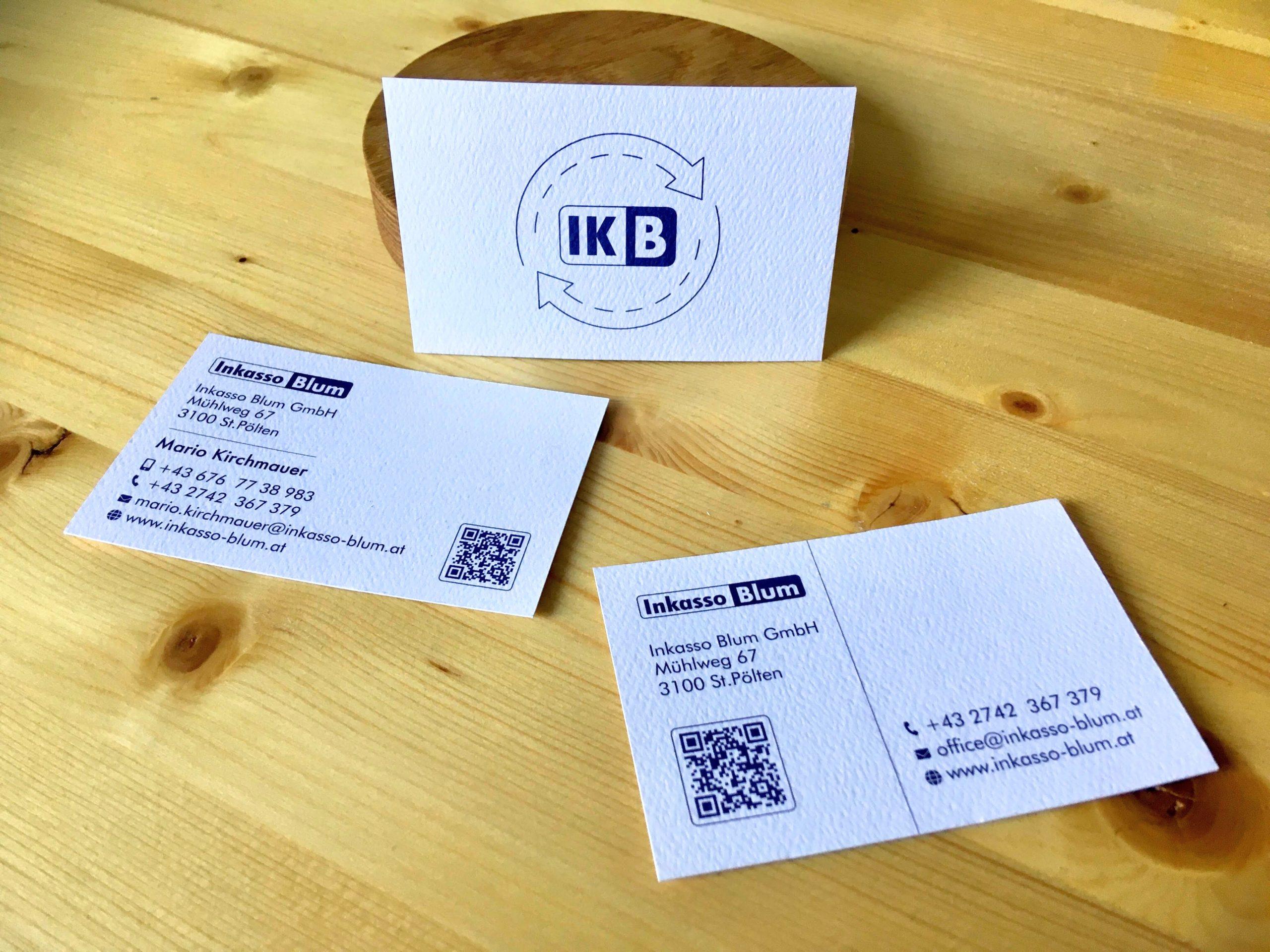 Logo und Visitenkarten für Inkasso Blum in St.Pölten