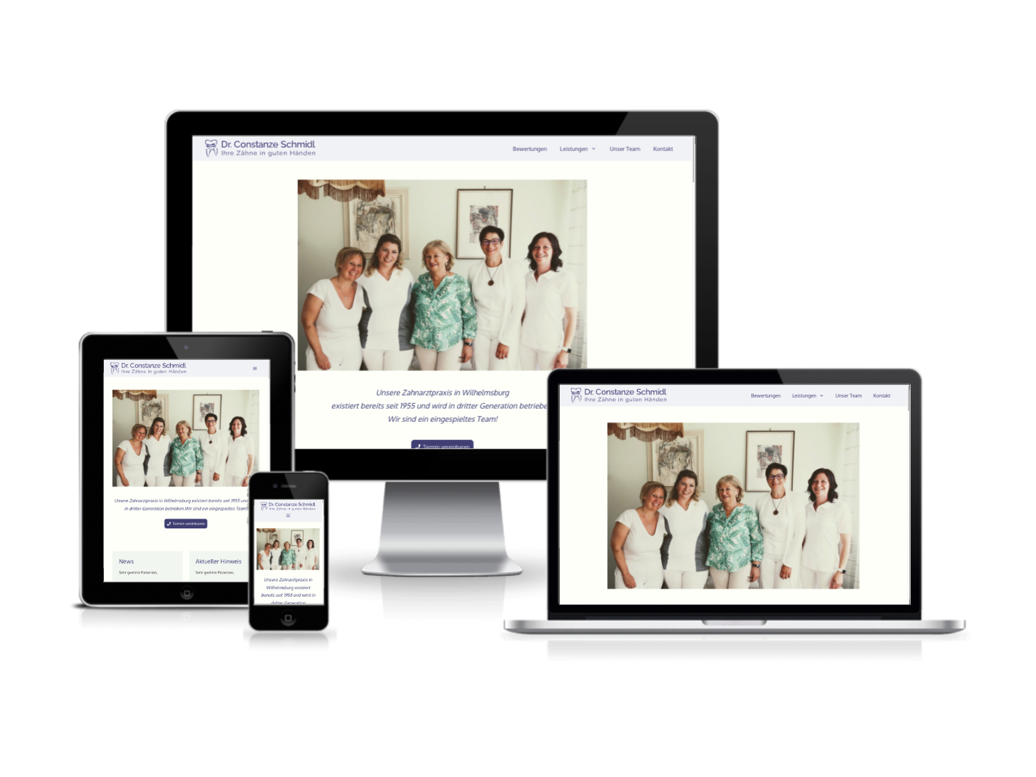 Webdesign und Webprogrammierung für Zahnärztin Dr. Constanze Schmidl