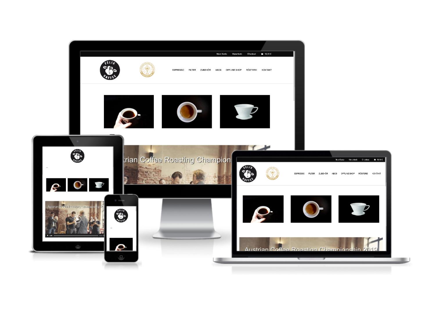 Webdesign und Webprogrammierung für Felixkaffee St.Pölten